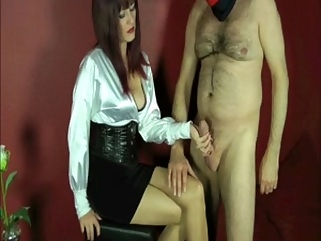 Mistress allows her slave fulfilling his fetish dream fetish