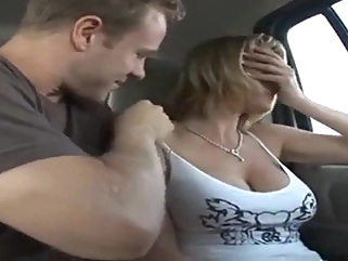 Hardcore Blonde Wife In Van cougar