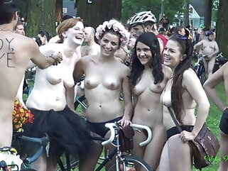 Scant party in public public nudity