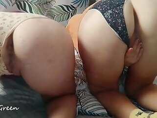 POV Triumvirate Dealings Anent Undershorts - STEP SISTERS GREEN (SHORT) blowjob