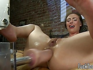 Masturbating amateur squirts getting toyed sex toy