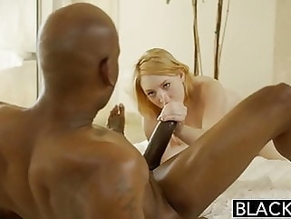 BLACKED Blonde Babysitter Trillium Fucks her Black Boss redhead