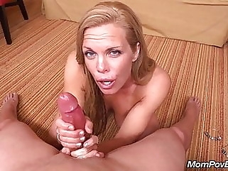 Fit MILF sucks and fucks young cock mature