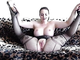 Bodystocking babe with toy! stockings