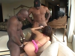 Japanese Gape Slut Kammy DPed By Big Black Dicks asian