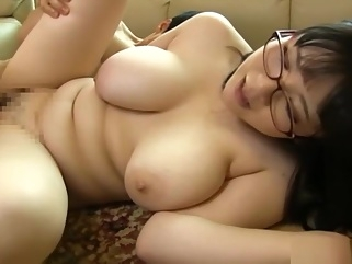 Yatsuka Mikoto, naughty big boobed Asian milf enjoys a banging big tits