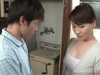 Hot Japanese milf Yuuri Saejima in a tough screwing action japanese