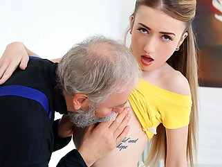 Empera in Old Man Fucks A Fresh Babe - Old-n-Young small tits