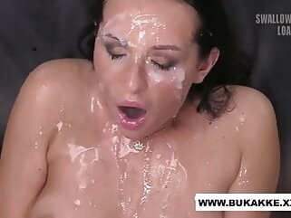 Carolina Masturbating Whilst Getting Jizzed In excess of - bukkake.xxx blowjob