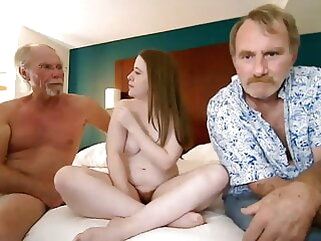 Father fucks in the sky camera close by a friend 2 tits