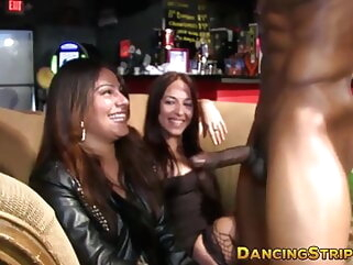 Amateur babes are deepthroating hard stripper cocks at raw party babe