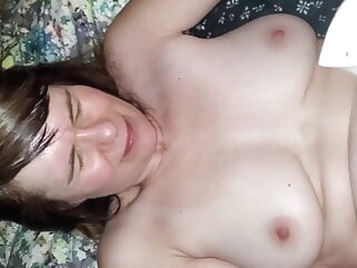 Spliced cowgirl with vibe and cock in pussy sex toy